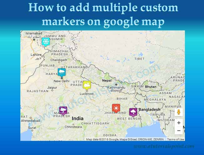 How To Add Multiple Custom Markers On Google Map - Google maps custom marker