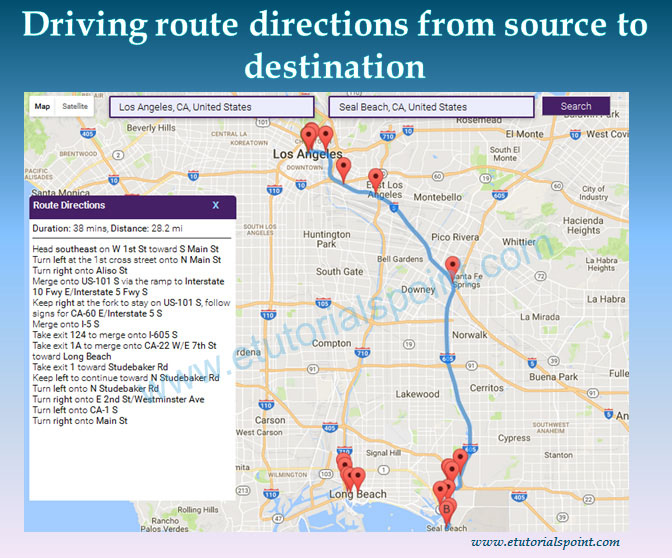 2019 updated] Driving route directions from source to ...