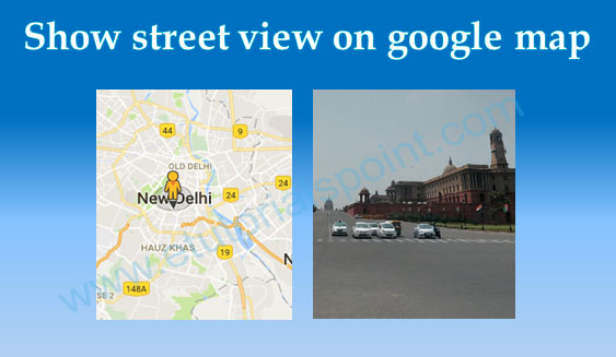How to show street view on the google map