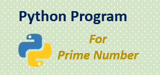 Python program for Prime Number