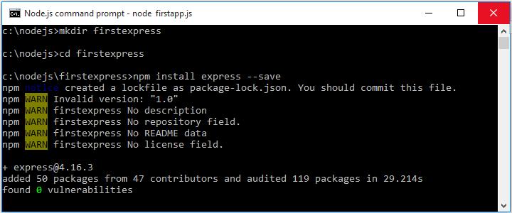 Express js Installation