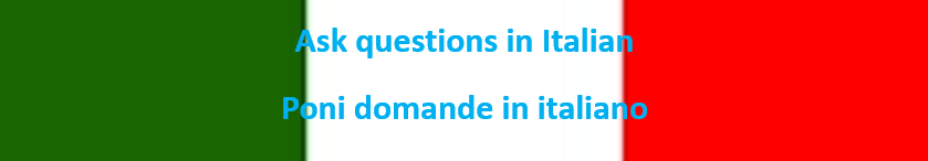 Italian Ask Questions